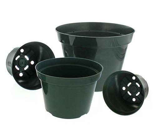 گلدان پلاستیکی مشکی ارزان