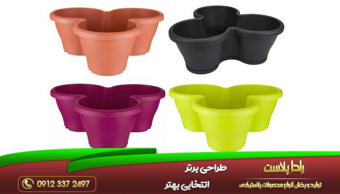 انواع گلدان پلاستیکی طبقاتی